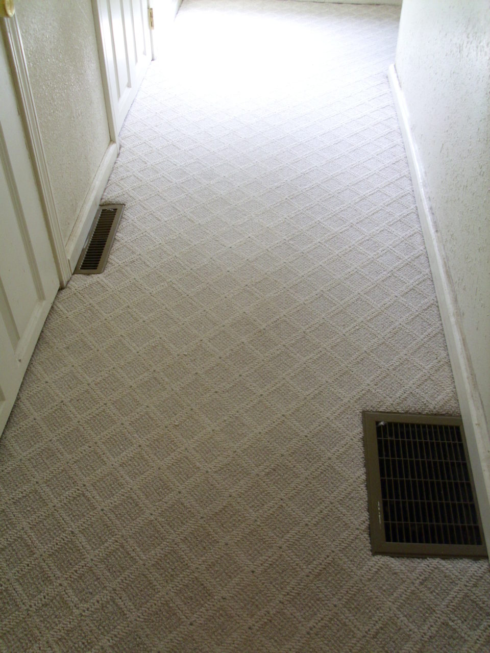 Same hallway Before & after photos